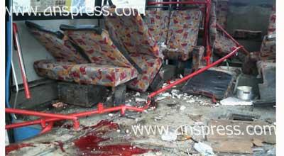 Avtobus 07-nin üstünə çıxdı