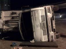 Bakı-Quba yolunda 3 yük avtomobili toqquşdu
