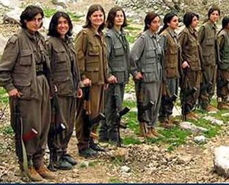 <b>PKK-da qadınlarla kişilər bir-birinə dəydi</b>