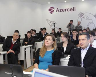 """Azercell Xəzər Universitetində """"E-learning"""" otağı yaradıb"""