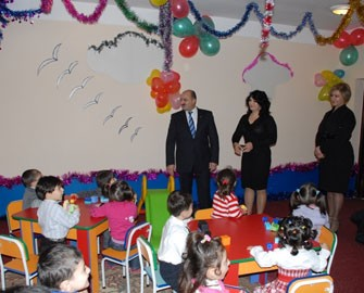 Səbail rayonunda daha bir uşaq bağçasının təmiri başa çatıb