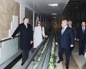 <b>Prezident eskalatorda, Ziya Məmmədov piyada -<font color=red> Fotolar</b></font>