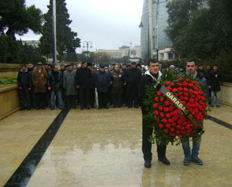 <b>Qarabağ blokunun ziyarətində izdiham yaşandı</b>