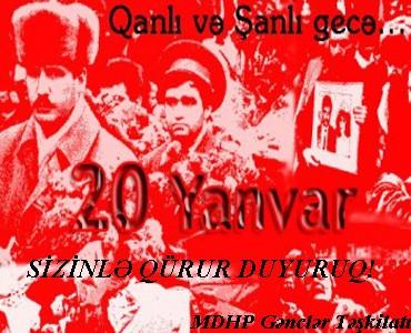 """""""20 Yanvar""""  - <font color=red>""""Qırmızı Yanvar""""!</font>"""
