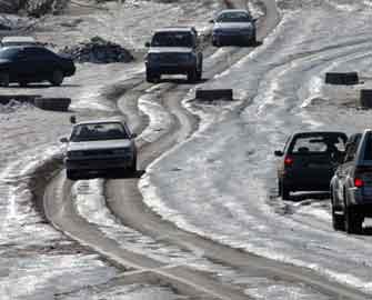 Azərbaycanın yolları buz bağladı