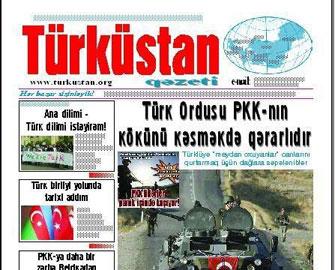 """""""Türküstan"""" qəzeti """"TÜRKSOY Basın Ödülü""""nə layiq görülüb"""
