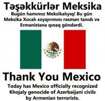 <b>Meksika Senatı Xocalı soyqırımını tanıdı</b>