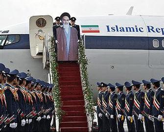 """<b>İran Xomeynini """"maket"""" kimi qarşıladı-<font color=red> Fotolar</b></font>"""