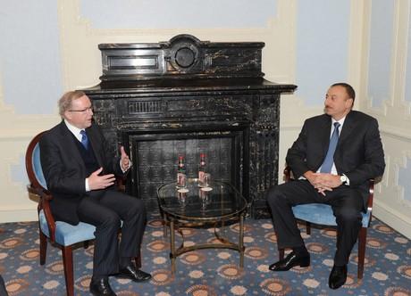 İlham Əliyev Avropa Xalq Partiyasının prezidenti ilə görüşüb