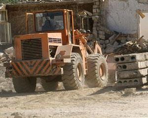 Bayraq Meydanına gedən yolun tikintisində bədbəxt hadisə