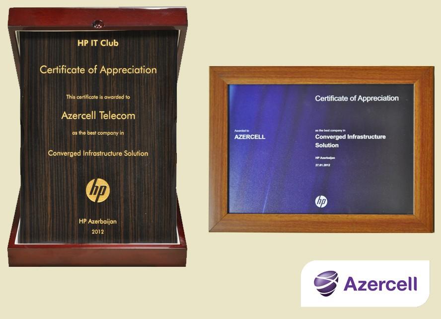Azercell HP-nin sertifikatına layiq görülüb