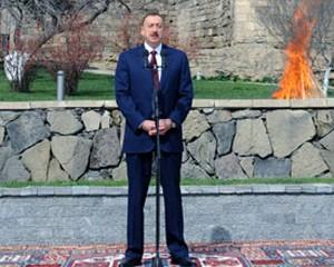 <b>İlham Əliyev Bakıda keçirilən Novruz şənliklərində iştirak edir</b>