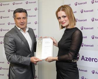 Azercell Gümüş Sertifikata layiq görülüb
