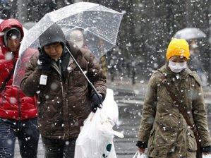 Yaponiyaya qar yağdı