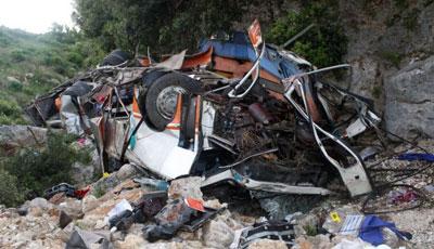 <b>Tələbələrin avtobusu qəzaya uğradı, 11 nəfər öldü</b>