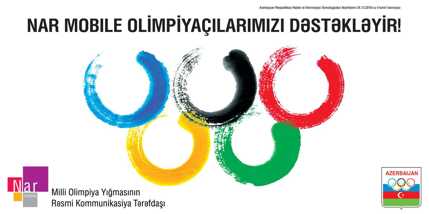 Nar Mobile Milli Olimpiya Komandasının Rəsmi Kommunikasiya Tərəfdaşı olub