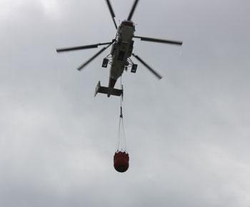 Şamaxıdakı yanğın helikopterlə söndürüldü