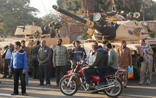 Prezident tankla özünü müdafiə edir