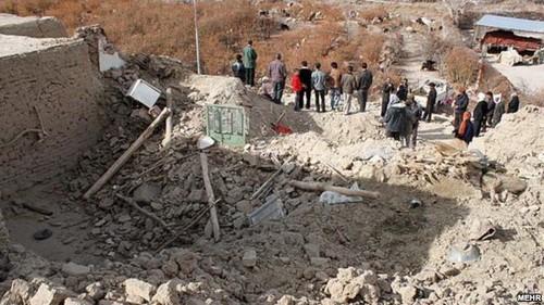 İrandakı zəlzələdə 15 kənd dağılıb