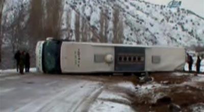 Ermənistan-İran avtobusu qəzaya uğradı