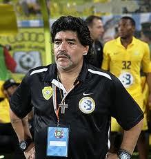 Maradona Səddam Hüseynin vətənində