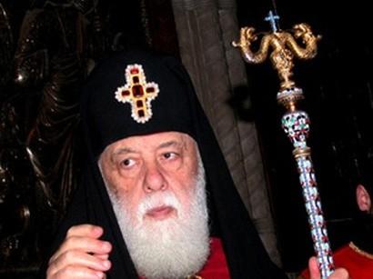 Gürcü patriarxına ad günü hədiyyəsi