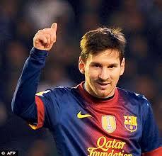 Qol + rekord  = <font color=red>Messi</font>