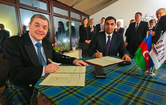 Böyük Britaniya ilə müqavilə imzalandı -<font color=red> Fotolar</font>