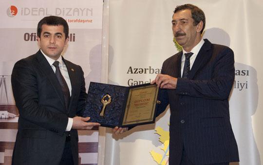 """""""Akkord"""" """"Zəfər-2012"""" Yüksək İdman Nailiyyətləri Mükafatına layiq görülüb"""