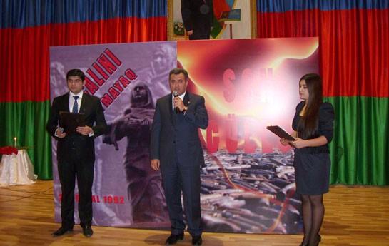 Nərimanov rayonunda Xocalı faciəsi anılıb