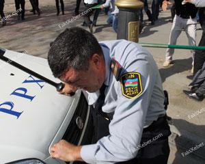 Aksiya zamanı polisi döyən həbs olundu