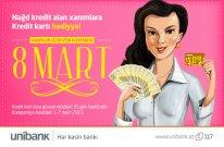Unibank-dan xanımlara möhtəşəm hədiyyə