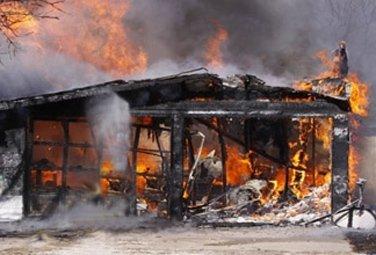 Masallıda ev yandı