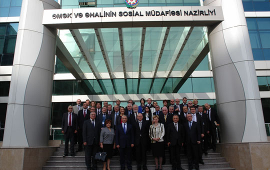 Nazirliyin kollektivi Heydər Əliyev Fondunda olub