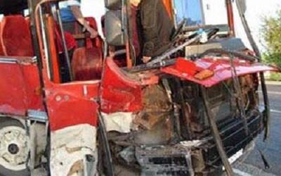 Bakıda dəhşətli avtobus qəzası - <font color=red>4 ölü</font>