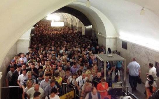 Metroda yanğın -
