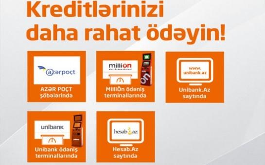 Unibank-da kredit ödə, pul uduşu qazan