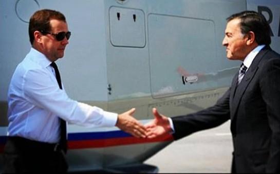 Araz Ağalarov Medvedevlə görüşdü -