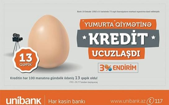 """""""Yumurta qiymətinə kredit"""" daha da ucuzlaşdı"""