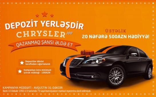 Unibank-dan hədiyyəniz Chrysler olsun!