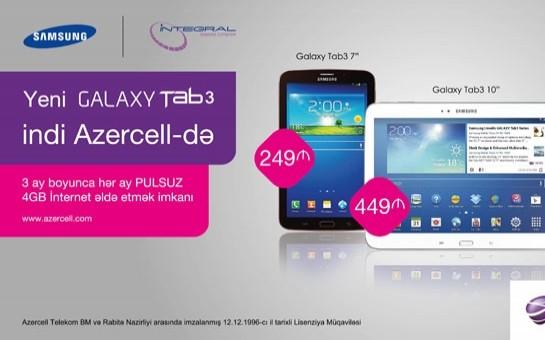 Azercell-dən yeni Samsung Galaxy Tab3 kampaniyası