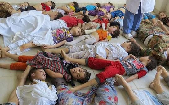 Suriyada qanlı gecənin kadrları -
