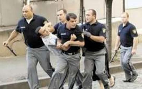 Gürcüstanda müsəlmanlarla polis arasında qarşıdurma -