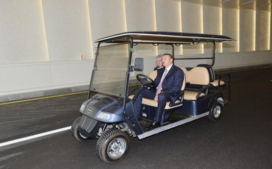 Prezident beş tunelin açılışını etdi-