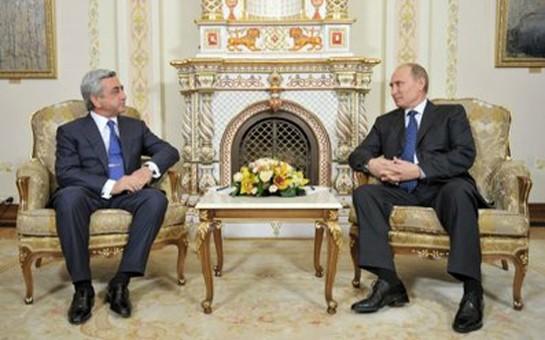 Putinlə Sarkisyan görüşdü
