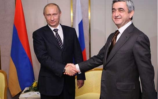 Putin gəlmədi, Sarkisyan gedir
