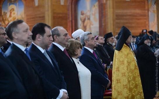 Sarkisyan Moskvada açılış etdi-