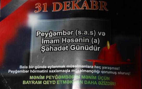 Bakıda dindarlar Yeni illə bağlı bukletlər paylayır-