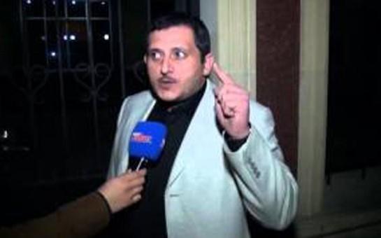 Yol polisini təhqir edən jurnalist -