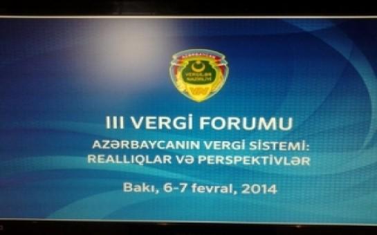 Bakıda III Vergi Forumu keçirilir